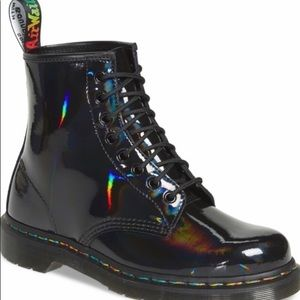Nib 1460 Rainbow Patent Boot